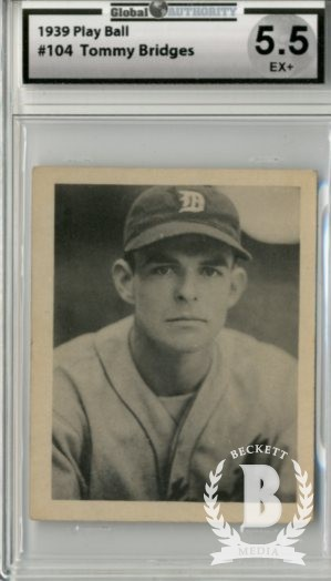 1939 Play Ball #104 Tom Bridges