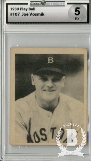 1939 Play Ball #107 Joe Vosmik