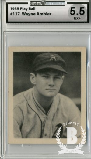 1939 Play Ball #117 Wayne Ambler RC