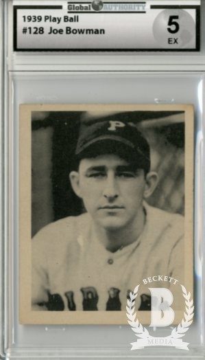 1939 Play Ball #128 Joe Bowman RC
