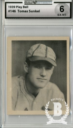 1939 Play Ball #146 Tom Sunkel RC