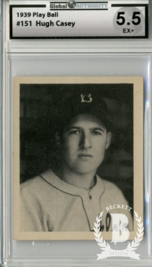 1939 Play Ball #151 Hugh Casey RC