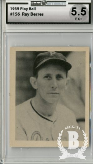 1939 Play Ball #156 Ray Berres RC