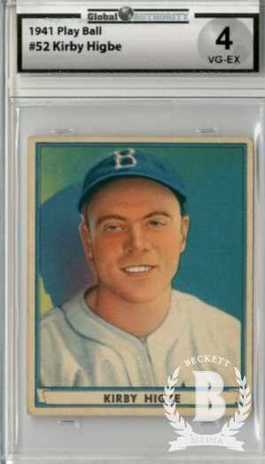 1941 Play Ball #52 Kirby Higbe RC
