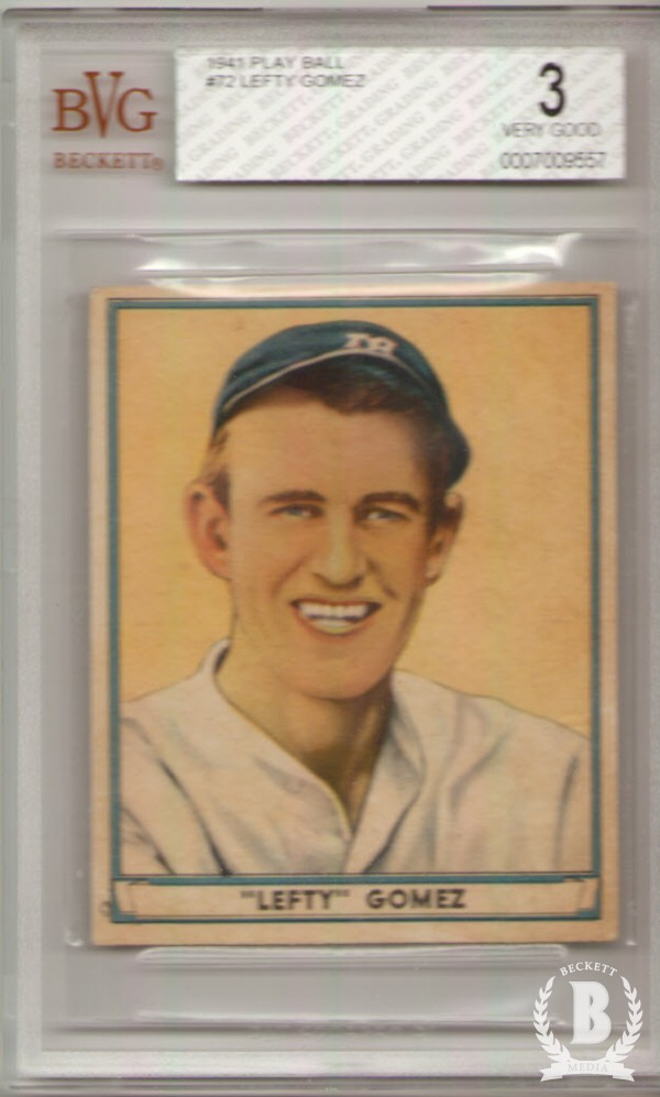 1941 Play Ball #72 Lefty Gomez