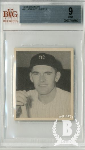 1948 Bowman #11 Johnny Lindell RC