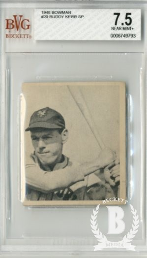 1948 Bowman #20 Buddy Kerr SP RC