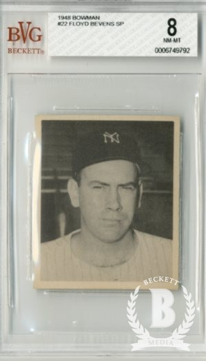 1948 Bowman #22 Floyd Bevens SP RC