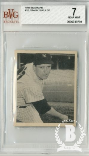 1948 Bowman #26 Frank Shea SP RC