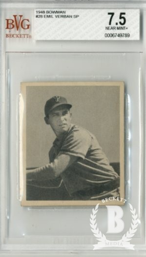 1948 Bowman #28 Emil Verban SP RC
