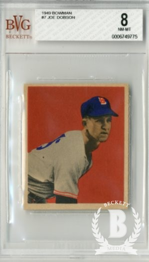 1949 Bowman #7 Joe Dobson RC