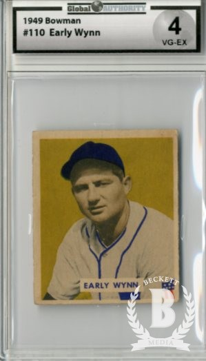 1949 Bowman #110 Early Wynn RC
