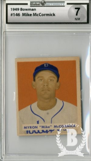 1949 Bowman #146 Mike McCormick RC