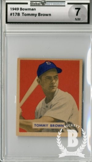 1949 Bowman #178 Tom Brown RC