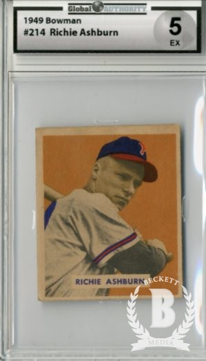 1949 Bowman #214 Richie Ashburn RC