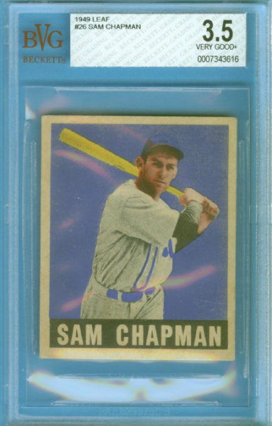 1949 Leaf #26 Sam Chapman