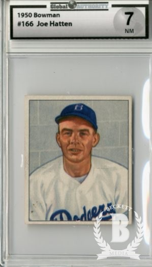 1950 Bowman #166 Joe Hatton