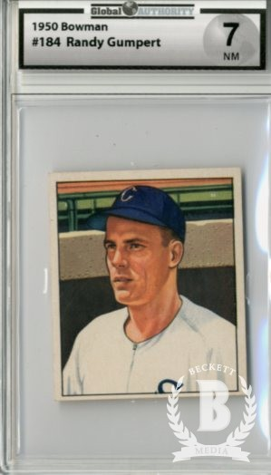 1950 Bowman #184 Randy Gumpert