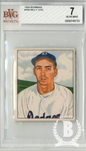 1950 Bowman #194 Billy Cox
