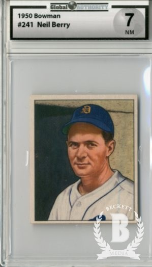 1950 Bowman #241 Neil Berry RC
