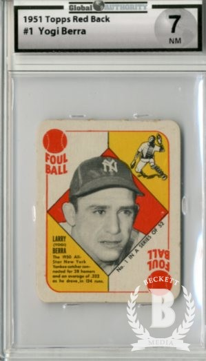 1951 Topps Red Backs #1 Yogi Berra