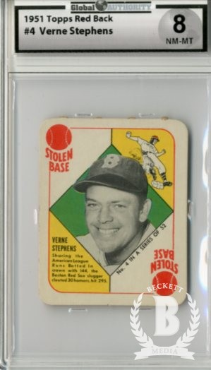 1951 Topps Red Backs #4 Vern Stephens