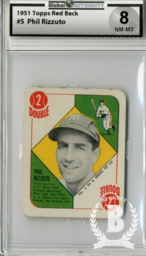 1951 Topps Red Backs #5 Phil Rizzuto