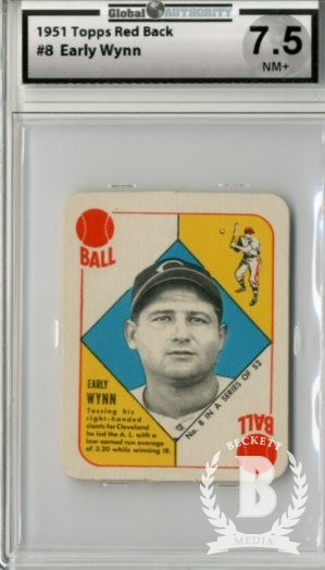 1951 Topps Red Backs #8 Early Wynn
