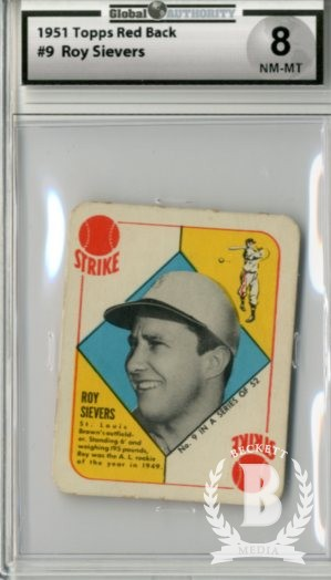 1951 Topps Red Backs #9 Roy Sievers