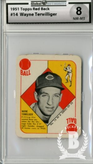1951 Topps Red Backs #14 Wayne Terwilliger