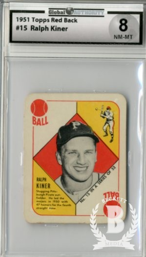 1951 Topps Red Backs #15 Ralph Kiner