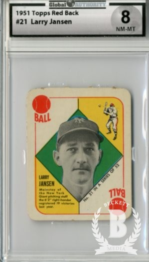 1951 Topps Red Backs #21 Larry Jansen