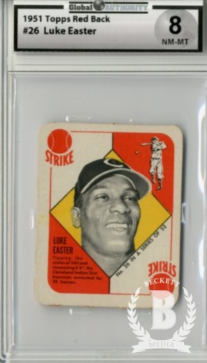 1951 Topps Red Backs #26 Luke Easter RC