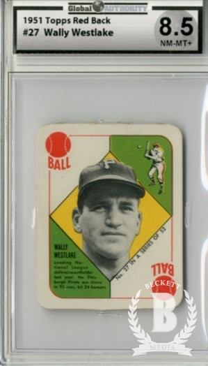 1951 Topps Red Backs #27 Wally Westlake