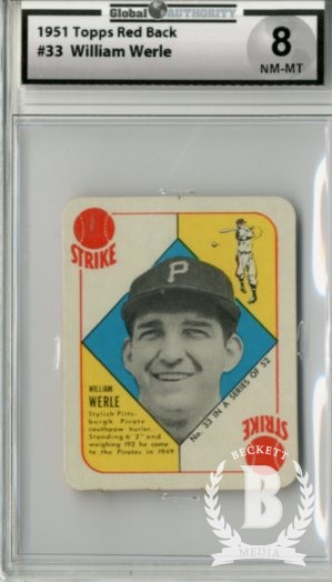 1951 Topps Red Backs #33 William Werle