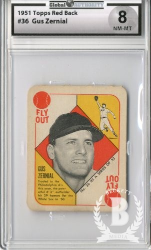 1951 Topps Red Backs #36B Gus Zernial Phila