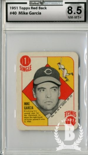 1951 Topps Red Backs #40 Mike Garcia