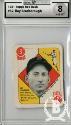 1951 Topps Red Backs #42 Ray Scarborough