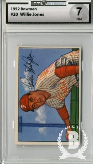 1952 Bowman #20 Willie Jones