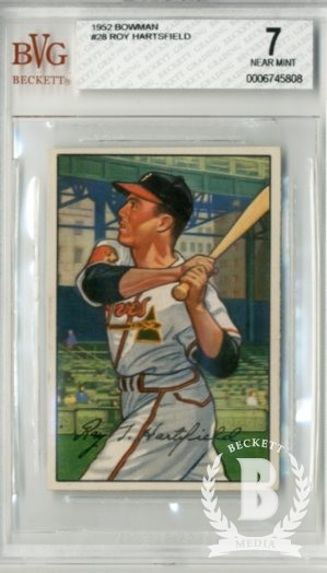 1952 Bowman #28 Roy Hartsfield