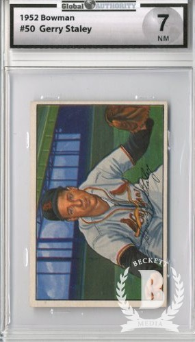 1952 Bowman #50 Gerry Staley