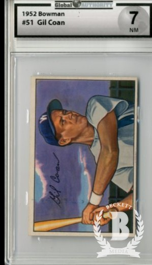 1952 Bowman #51 Gil Coan