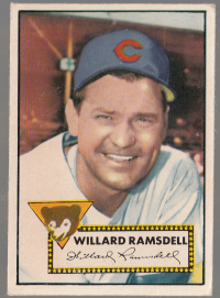 1952 Topps #114 Willard Ramsdell front image