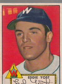 1952 Topps #123 Eddie Yost front image