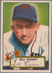 1952 Topps #125 Bill Rigney front image