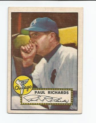 1952 Topps #305 Paul Richards MG