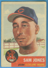 1953 Topps #6 Sam Jones front image