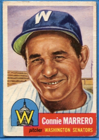 1953 Topps #13 Conrado Marrero DP front image