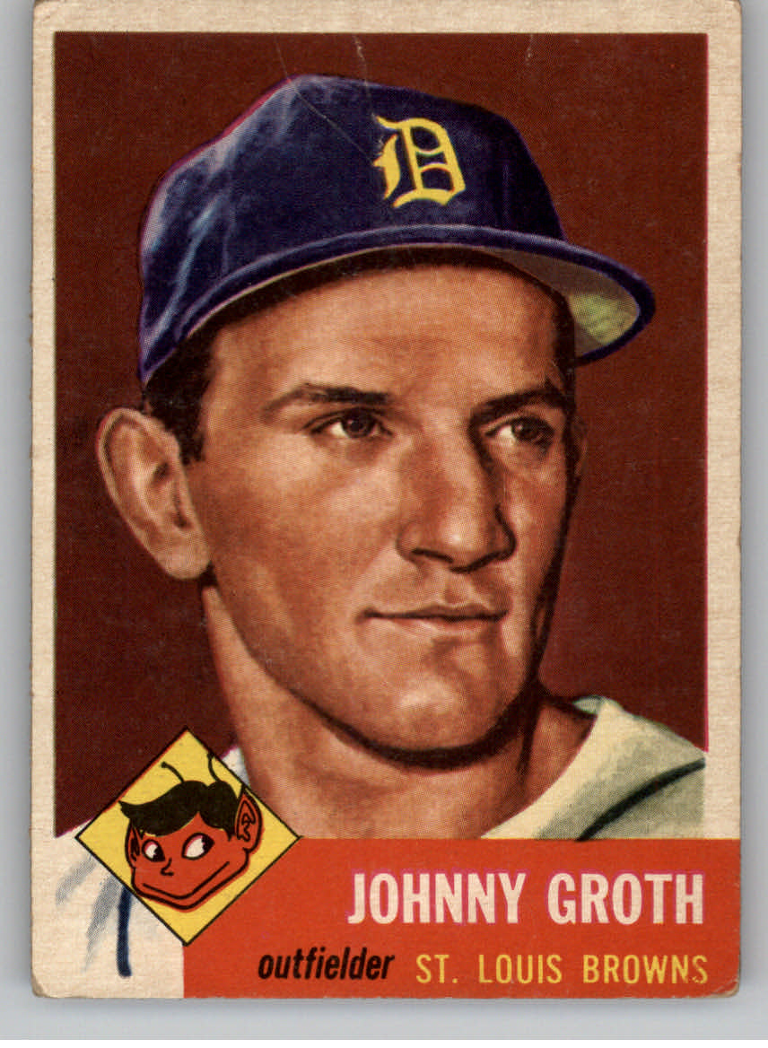 1953 Topps #36 Johnny Groth DP