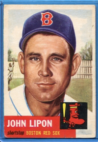 1953 Topps #40 John Lipon front image
